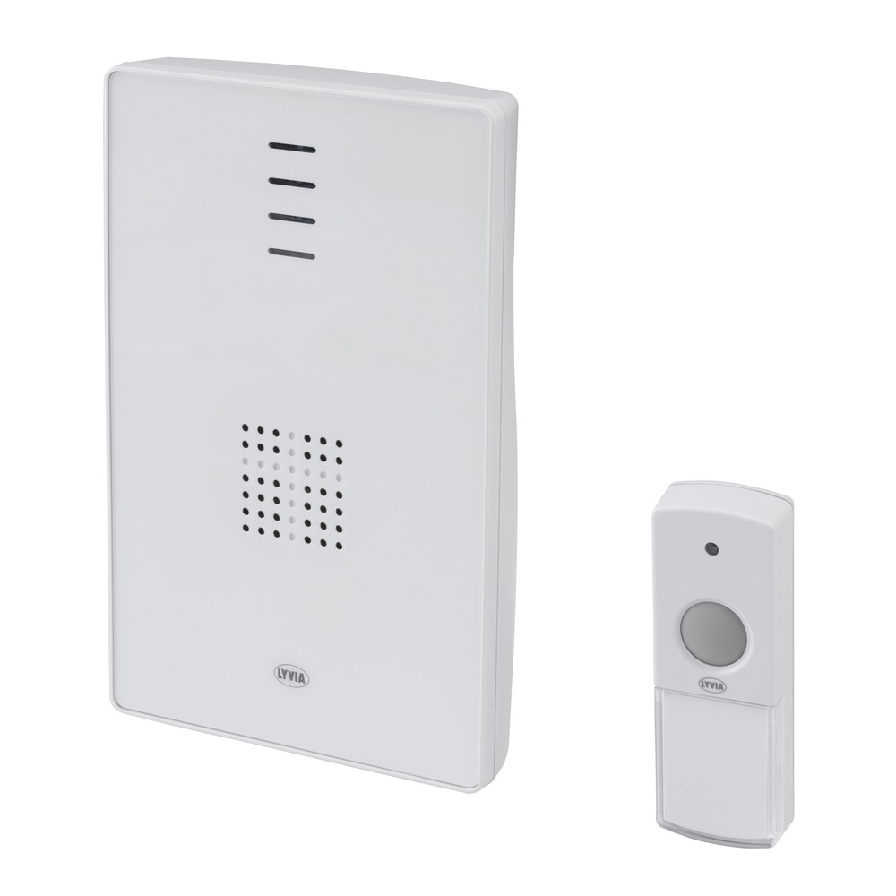 Wireless portable chime, with flashing light